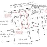 przykład mapy podziału do zniesienia współwłasności działki zabudowanej trzema budynkami