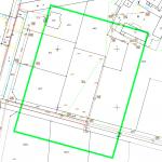 przykład mapy do celów projektowych dla pustej dzialki budowlanej