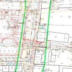 przykład mapy do celów projektowych dla obiektu zurbanizowanego