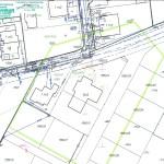 przykład mapy do celów projektowych z projektami przyłączy do uzgodnień w ZUD